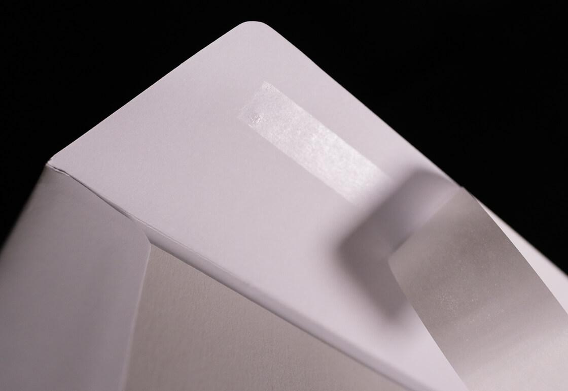 Board Back Flap and Glue Strip